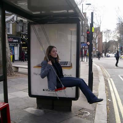 креативная автобусная остановка
