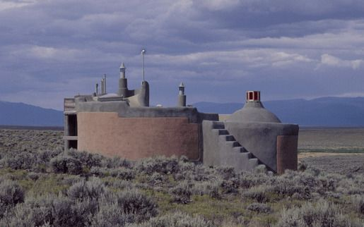 Nautilus Earthship House, Таос, Нью-Мексико, США