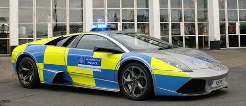 Lamborghini murcielago lp640 police car