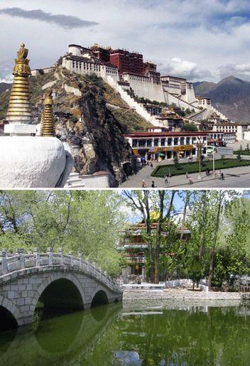 Дворец Потала, Лхаса, Тибет.