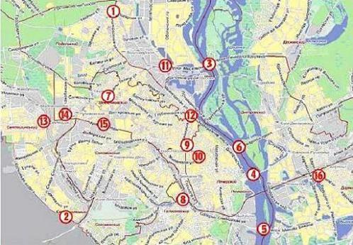 аварийные места Киева