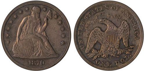 «Срібний долар Свобода» Еліасберга 1870 року
