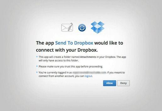 Отправка файлов по электронной почте в Dropbox
