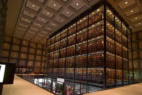Библиотека редких книг и манускриптов Байнеке, Нью-Хевен, США.