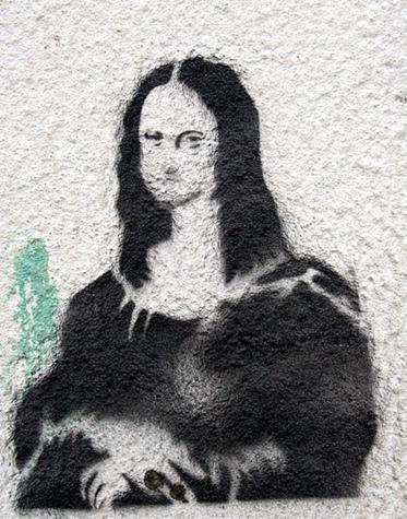 мона лиза гаффити