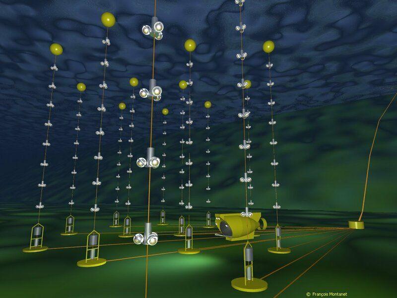 Подводная решетка - детектор нейтрино АНТАРЕС