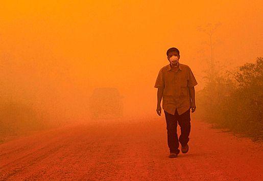 Индонезия загрязнение атмосферы