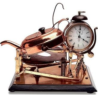 Пристрій для приготування чаю з годинником