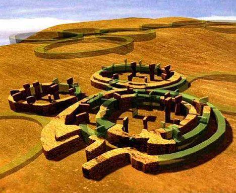 Три древних скрытых мегалитических круга