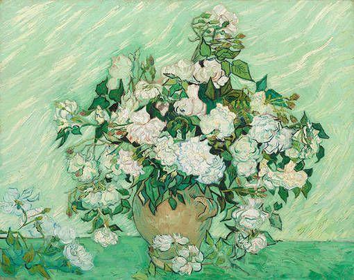 Винсент Ван Гог Ваза с розовыми розами