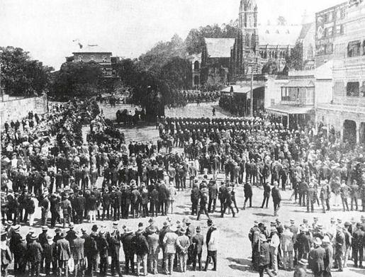 Всеобщая забастовка в Брисбейне, Автралия