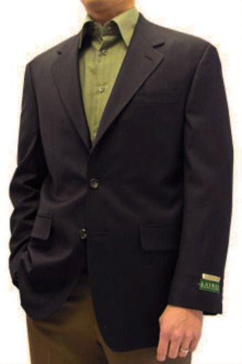 Неправильно застегнутый пиджак