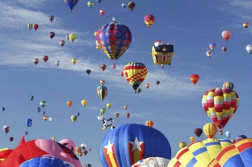 Международный фестиваль воздушных шаров в Альбукерке, США