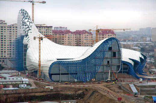Культурный центр имени Гейдара Алиева в Баку. Азербайджан.