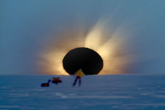 Полное солнечное затмение в Антарктике