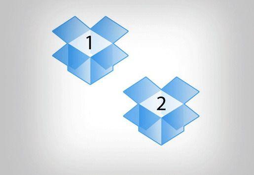 Поддерживать два аккаунта Dropbox