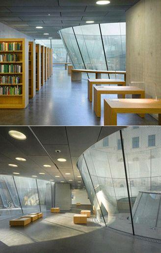 8. Библиотечный проём музея Йоаннойм, разработанные Нито Собейано и ЕЭП Architekten, Штирия, Австрия