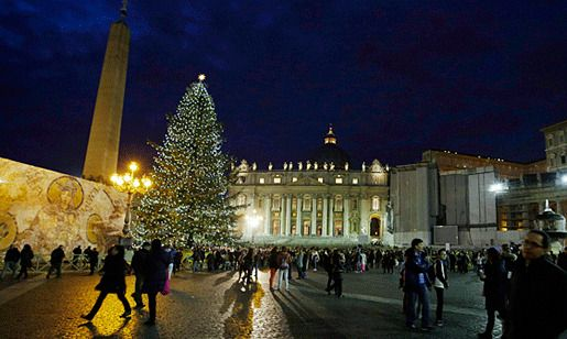 в Ватикане на площади Святого Петра