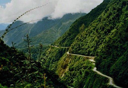 Дорога Северная Юнгас, Боливия