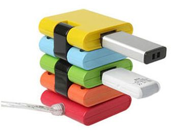 Разноцветный USB-хаб - конструктор