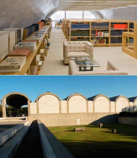 Библиотека художественного музея Кимбелла, Форт-Уорт, штат Техас