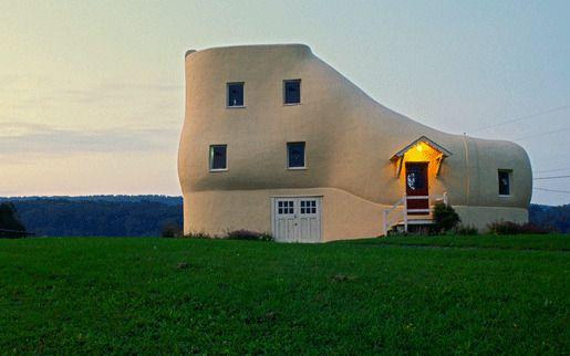 2. Домик-туфля Хейнса, Халлем, Пенсильвания, США