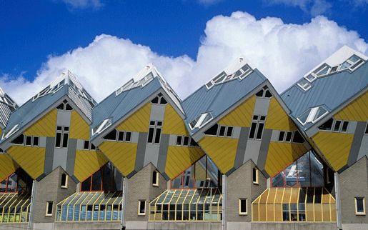 Кубические дома, Роттердам, Голландия