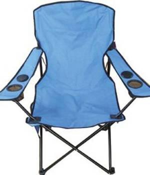 Складаний стілець для риболовлі з вмонтованими колонками