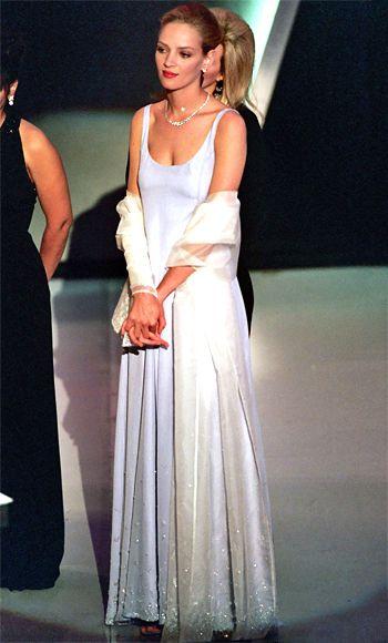 Ума Турман, платье