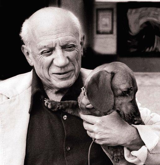 Пабло Пикассо и его собака